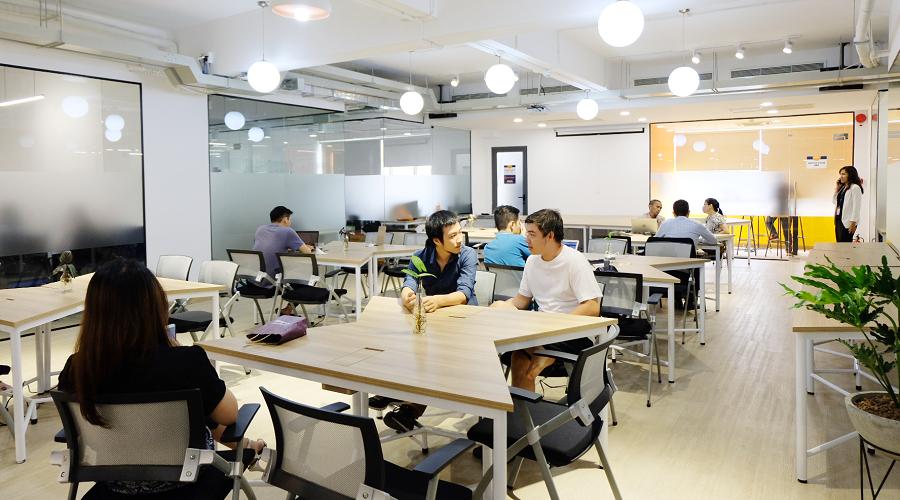 một Coworking space hiện đại