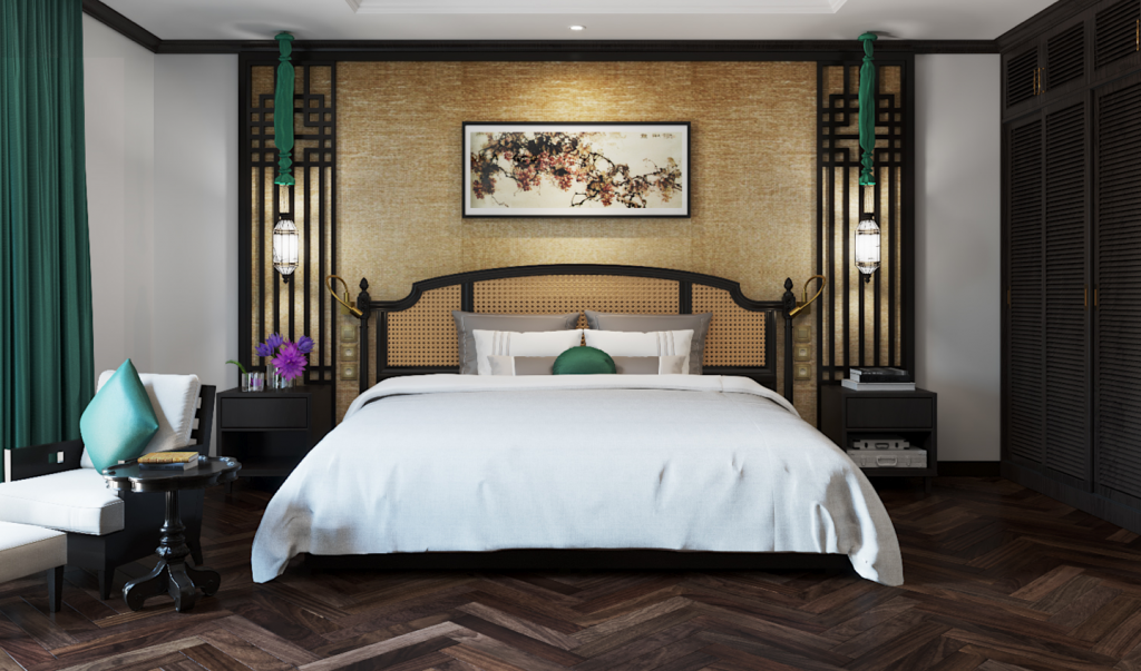 Phòng ngủ tại Potique Hotel